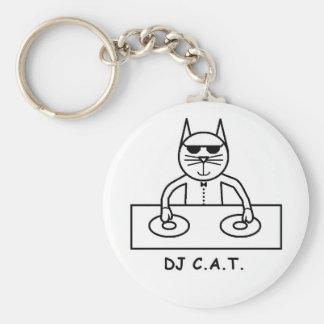 DJ C.A.T. Button Keychain