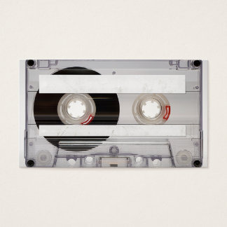 DJ Cassette Tape Business Card Template