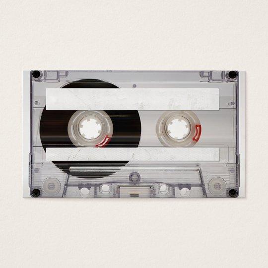 dj cassette tape business card template zazzle
