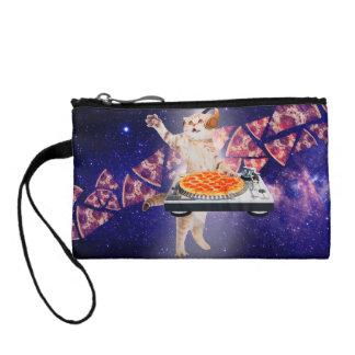 dj cat - cat dj - space cat - cat pizza coin purse