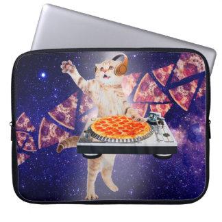 dj cat - cat dj - space cat - cat pizza laptop computer sleeves