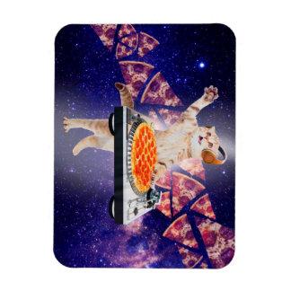 dj cat - cat dj - space cat - cat pizza magnet