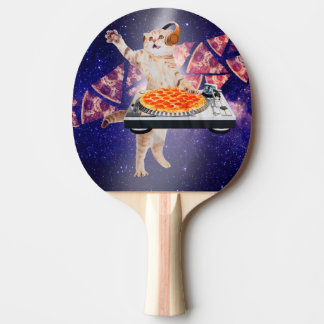 dj cat - cat dj - space cat - cat pizza ping pong paddle
