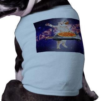dj cat - cat dj - space cat - cat pizza shirt