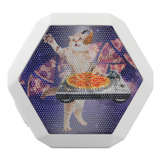 dj cat - cat dj - space cat - cat pizza white bluetooth speaker
