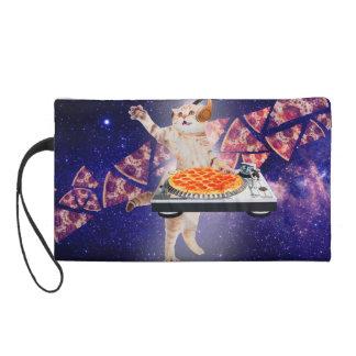 dj cat - cat dj - space cat - cat pizza wristlet