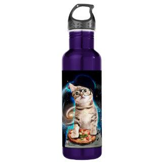 dj cat - space cat - cat pizza - cute cats 710 ml water bottle