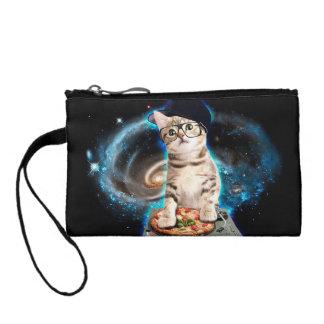 dj cat - space cat - cat pizza - cute cats coin purse