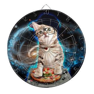 dj cat - space cat - cat pizza - cute cats dartboard