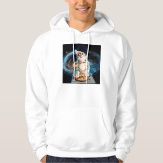 dj cat - space cat - cat pizza - cute cats hoodie