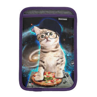 dj cat - space cat - cat pizza - cute cats iPad mini sleeve