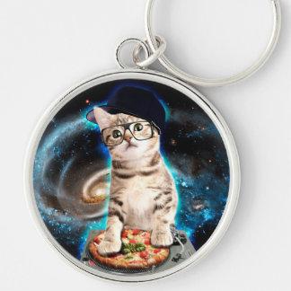 dj cat - space cat - cat pizza - cute cats keychain