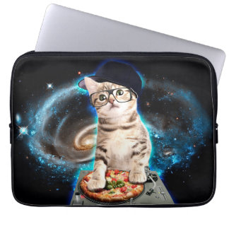 dj cat - space cat - cat pizza - cute cats laptop computer sleeves