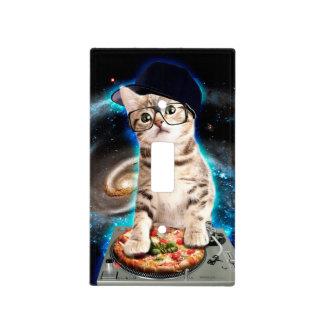 dj cat - space cat - cat pizza - cute cats light switch cover