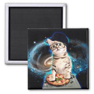 dj cat - space cat - cat pizza - cute cats magnet