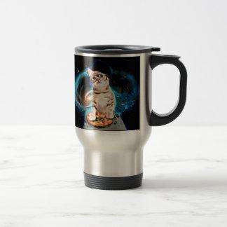 dj cat - space cat - cat pizza - cute cats travel mug