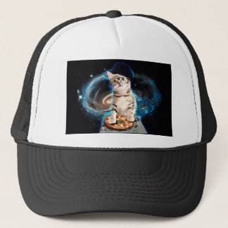 dj cat - space cat - cat pizza - cute cats trucker hat
