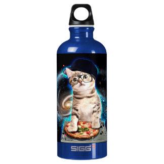 dj cat - space cat - cat pizza - cute cats water bottle