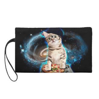 dj cat - space cat - cat pizza - cute cats wristlet