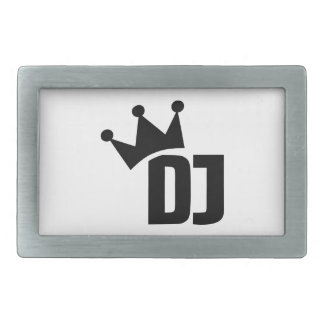 DJ champion winner Rectangular Belt Buckle