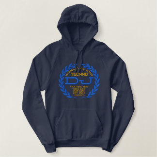 DJ Classic Laurels to Personalize Style Name Year! Embroidered Hoodie