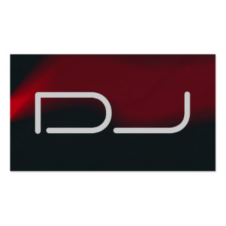 DJ Contemporary Stylish Red Black Grey Business Card