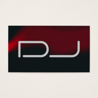 DJ Contemporary Stylish Red Black Grey Business Card