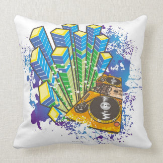 DJ Control Panel Throw Pillow