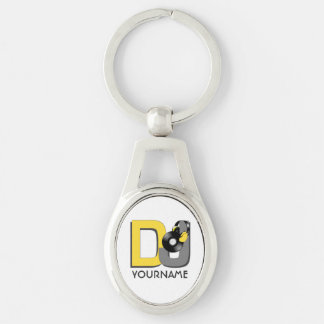 DJ custom color & monogram key chain