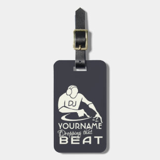 DJ custom luggage tag