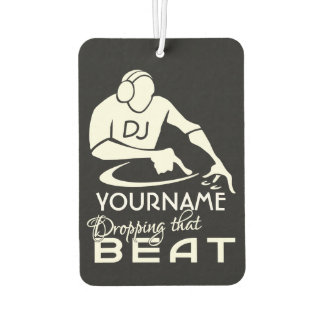 DJ custom name & color air freshner Car Air Freshener