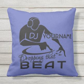 DJ custom name & color throw pillow