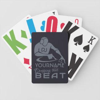 DJ custom playing cards