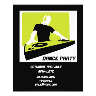 DJ Dance Party Retro Nightclub disco Flyer