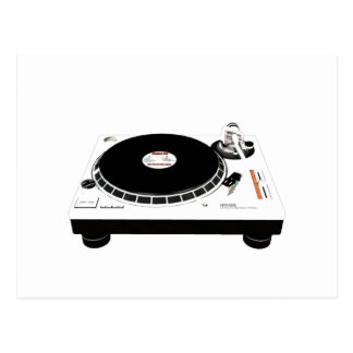 DJ Decks Postcard