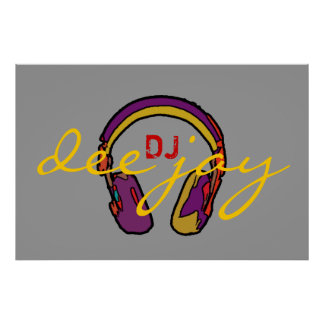 DJ decor walls, play the music