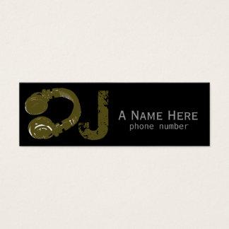 dj / dee jay / electronic music mini business card