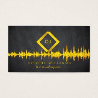 DJ Deejay Professional Gold Faux Music Business Card