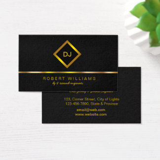 DJ Deejay Professional Gold Faux Music Teacher Business Card