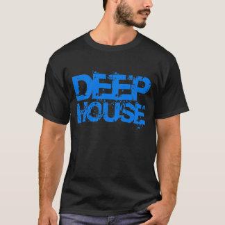 dj deep house music blue design t shirt