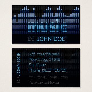 DJ Digital Equalizer Music Wave Wall Business Card