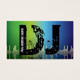 DJ Disc jockey business cards