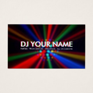 DJ Disco Beams Lights business card