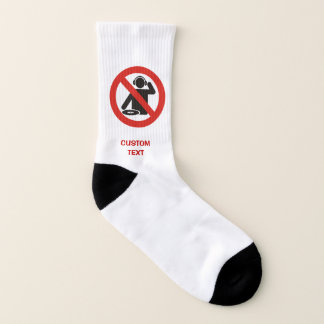 DJ free zone Socks