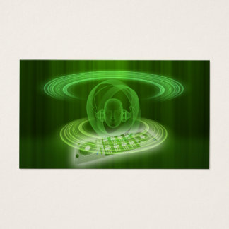 DJ green Business Card