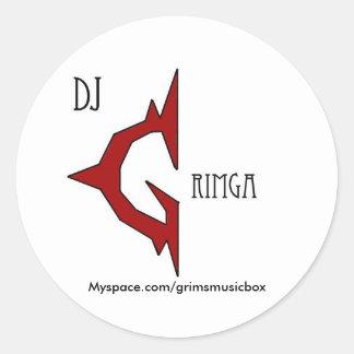 Dj Grimga Logo Stickers