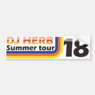 DJ Herb Summer Tour 18 bumper sticker