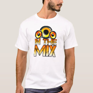 dj in the mix speakers design t-shirt