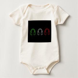 Dj Italian Flag Baby Bodysuit