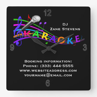 DJ Karaoke Wall Clock